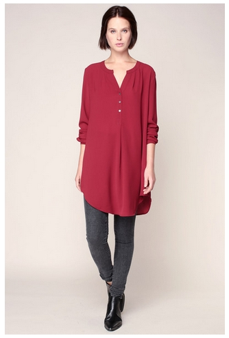 monshowroom blouse rouge only