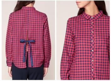monshowroom chemise carreau rouge bleu