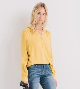 promod blouse jaune