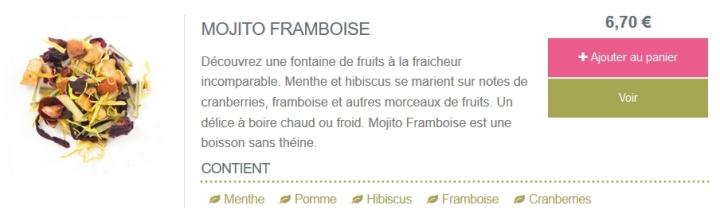 thé bourgeon mojito framboise