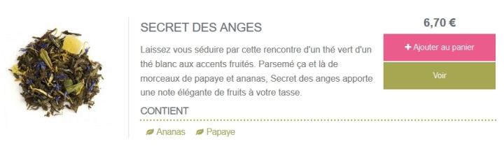 thé bourgeon secret des anges