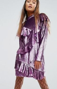 robe-sequins-violet-asos