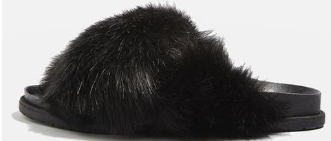 chaussons-poilus-noirs-topshop