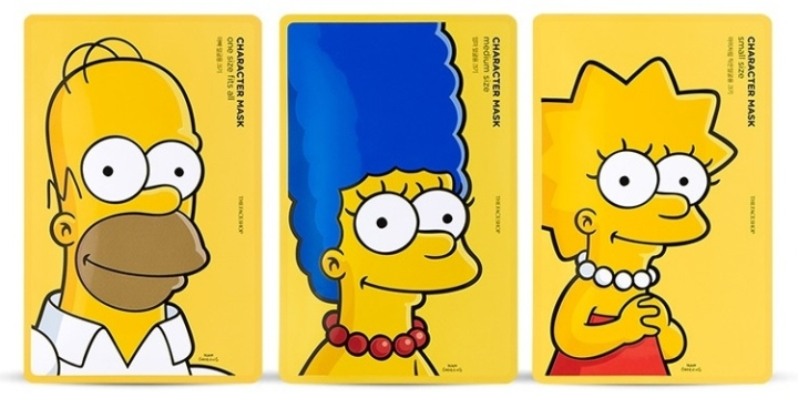 the face shop simpsons mask testerkorea