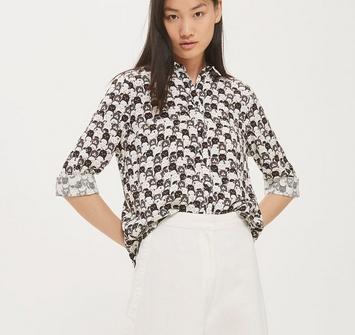 chemise imprimé chats topshop