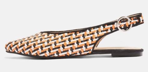 chaussures chelou tissées topshop