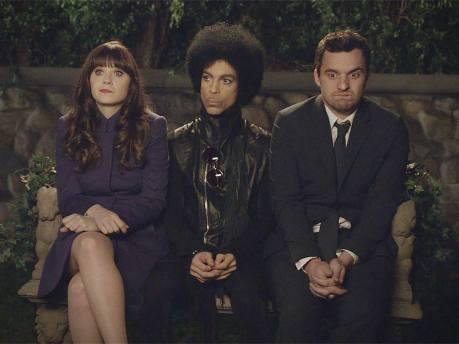 Quand-Prince-jouait-les-guest-dans-la-serie-New-Girl-avec-Zooey-Deschanel-Video
