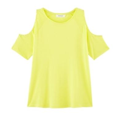 top jaune clair promod