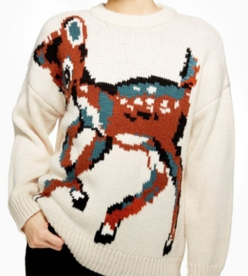 pull tricot bambi topshop